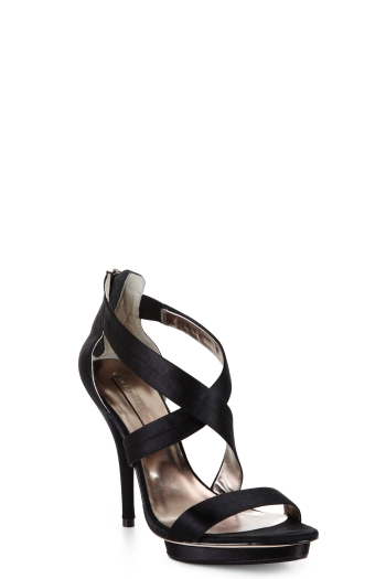 BCBGMAXAZRIA SATIN EVENING SANDAL