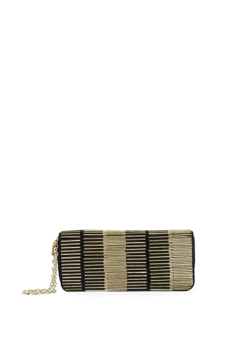 BCBGMAXAZRIA QUINN BEADED CLUTCH
