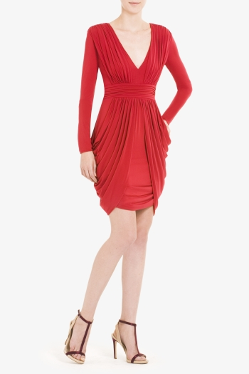 BCBGMAXAZRIA LARK SIDE-DRAPE DRESS