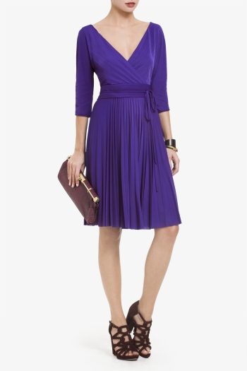 BCBGMAXAZRIA CRUZ PLEATED DRESS