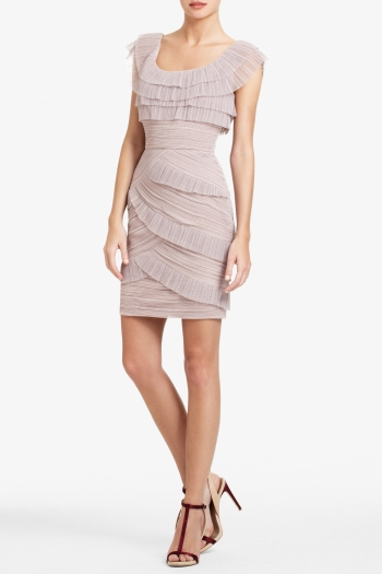 BCBGMAXAZRIA BRIANA SHORT PLEATED DRESS