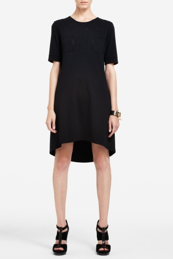 BCBGMAXAZRIA AISHA HIGH-LOW T-SHIRT DRESS