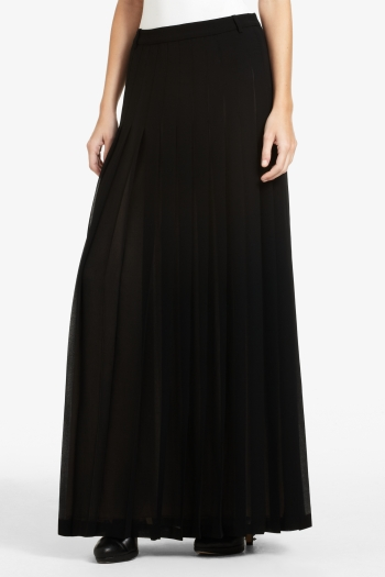 BCBGMAXAZRIA ELIZA FULL-LENGTH PLEATED SKIRT