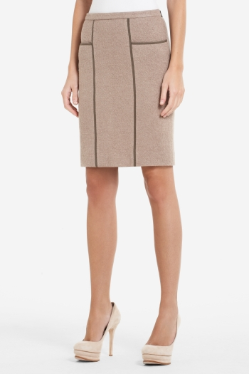 BCBGMAXAZRIA KIMI WOOL-BLEND PENCIL SKIRT