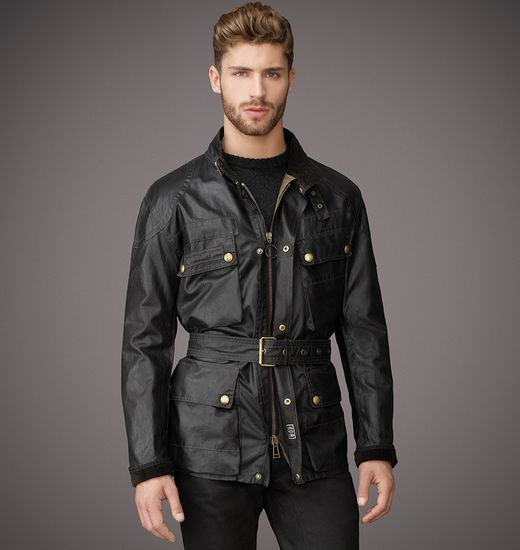BELSTAFF MEN THE TRIALMASTER JACKET Black