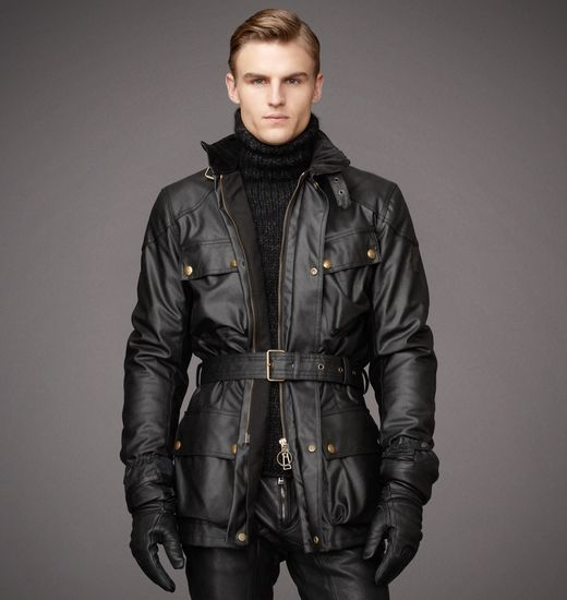BELSTAFF MEN CLASSIC TOURIST TROPHY JACKET Black