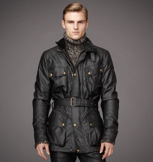 BELSTAFF MEN CLASSIC TOURIST TROPHY JACKET Mahogany