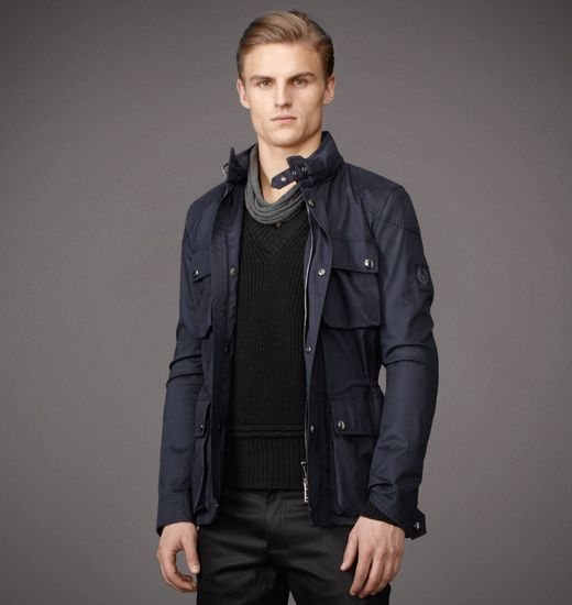 BELSTAFF MEN CLAYFIELD JACKET Legion Blue