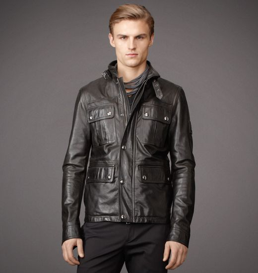 BELSTAFF MEN WARRINGTON JACKET Black