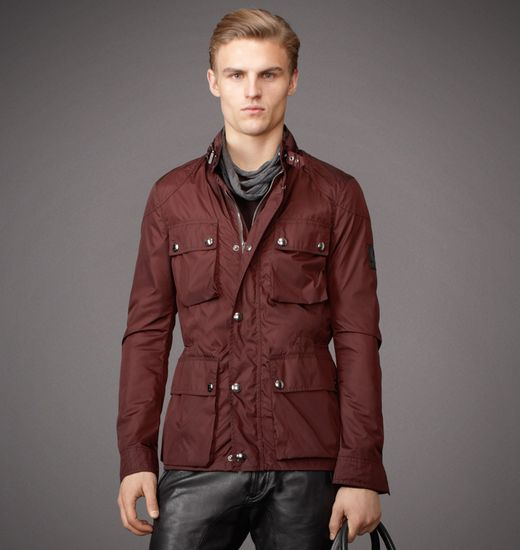 BELSTAFF MEN CLAYFIELD JACKET Antique Bronze/Rosewood
