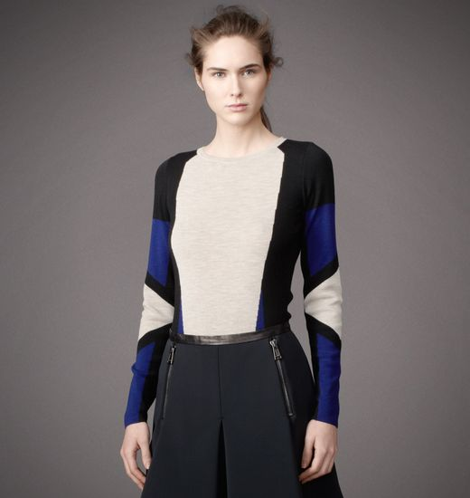 BELSTAFF WOMEN WHITMORE SWEATER Mist/Oxford Blue/Black