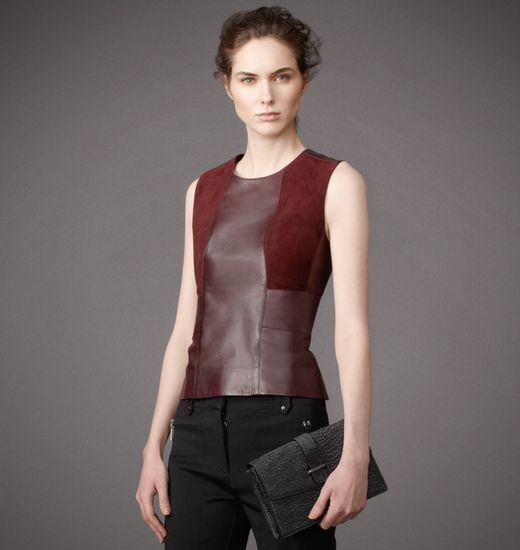 BELSTAFF WOMEN CARLOW TOP Burgandy