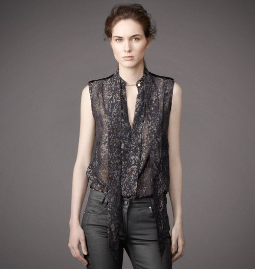 BELSTAFF WOMEN HARLOW BLOUSE Shadow