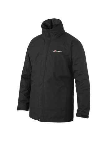 BERGHAUS MENS RG GAMMA LONG WATERPROOF JACKET Black