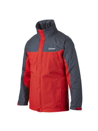 BERGHAUS MENS RG GAMMA LONG WATERPROOF JACKET Extrem Red / Carbon