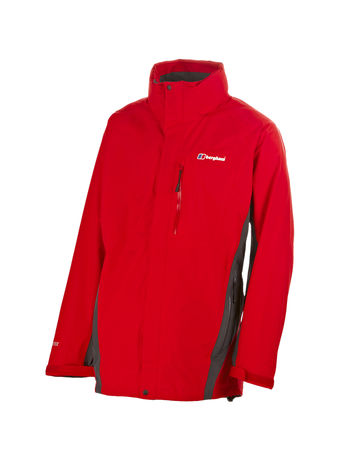 BERGHAUS MENS HURRICANE GORE-TEX® INTERACTIVE JACKET Extrem Red / Thunder