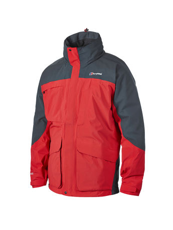 BERGHAUS MENS SUILVEN GORE-TEX® JACKET Extrem Red / Carbon