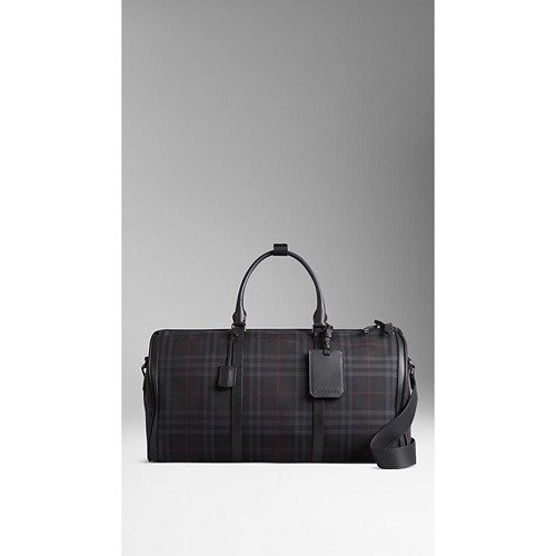 BURBERRY MEN'STHE LARGE ALCHESTER IN HORSEFERRY CHECK CHARCOAL/BLACK