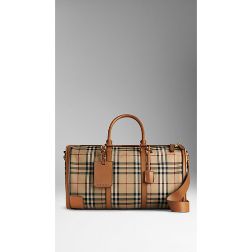 BURBERRY MEN'STHE LARGE ALCHESTER IN HORSEFERRY CHECK TAN