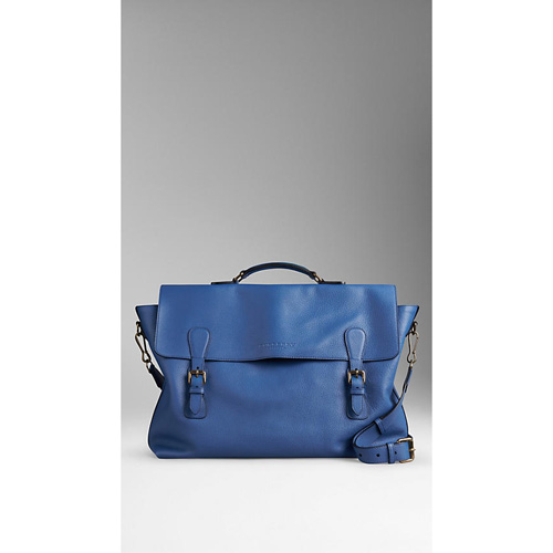 BURBERRY MEN'STHE EVERYDAY SATCHEL IN GRAINY LEATHER LUPINE