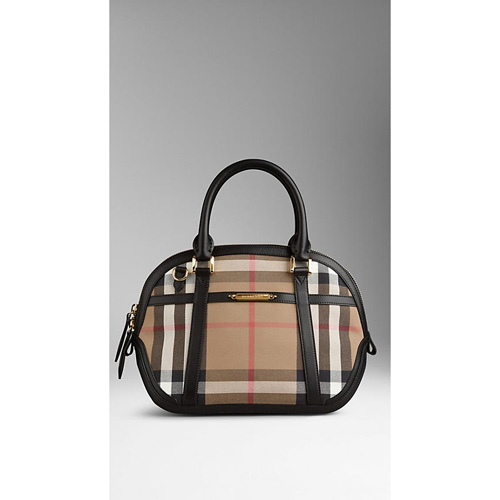 BURBERRY WOMEN'S THE SMALL ORCHARD IN SARTORIAL HOUSE CHECK BLACK