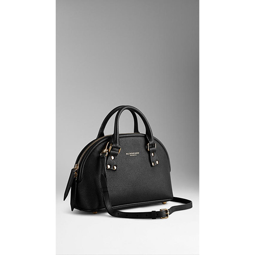 BURBERRY WOMEN'S THE SMALL BLOOMSBURY IN GRAINY LEATHER BLACK