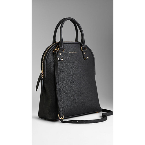 BURBERRY WOMEN'S THE MEDIUM BLOOMSBURY IN GRAINY LEATHER BLACK