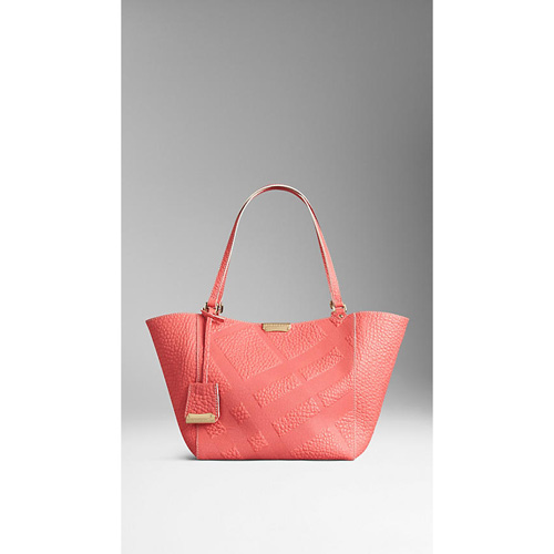 BURBERRY WOMEN'S THE SMALL CANTER IN BONDED LEATHER ROSE PINK