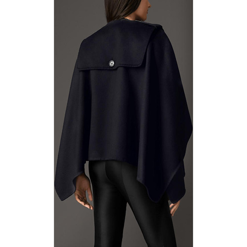 BURBERRY WOMEN\'S MILITARY CASHMERE CAPE NAVY