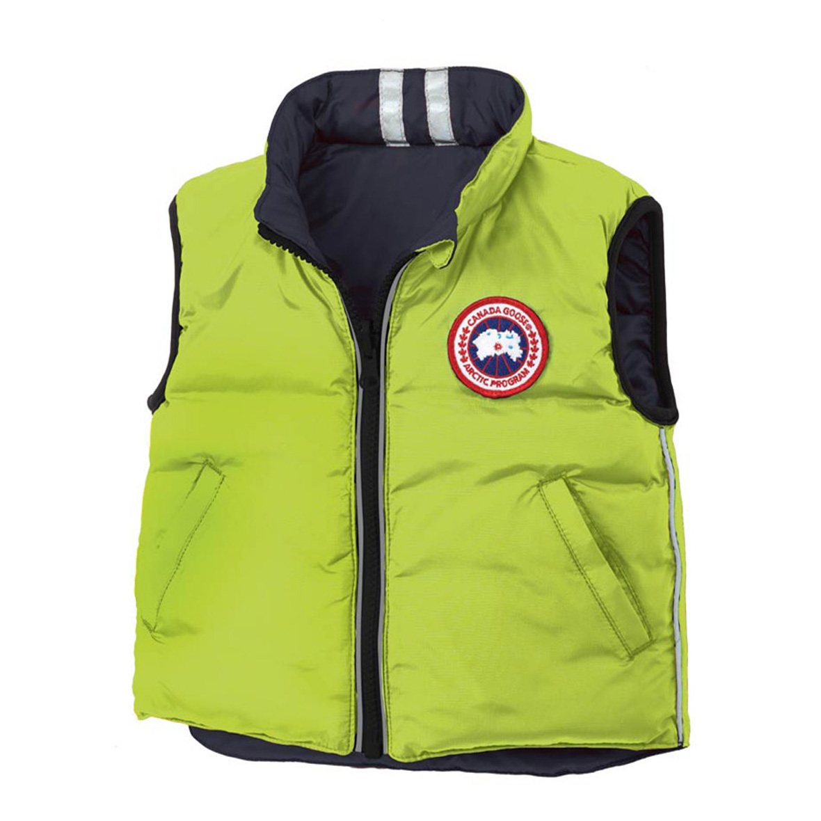 Canada Goose Infants [0M-12M] Cub Reversible Vest AURORA GREEN SPIRIT