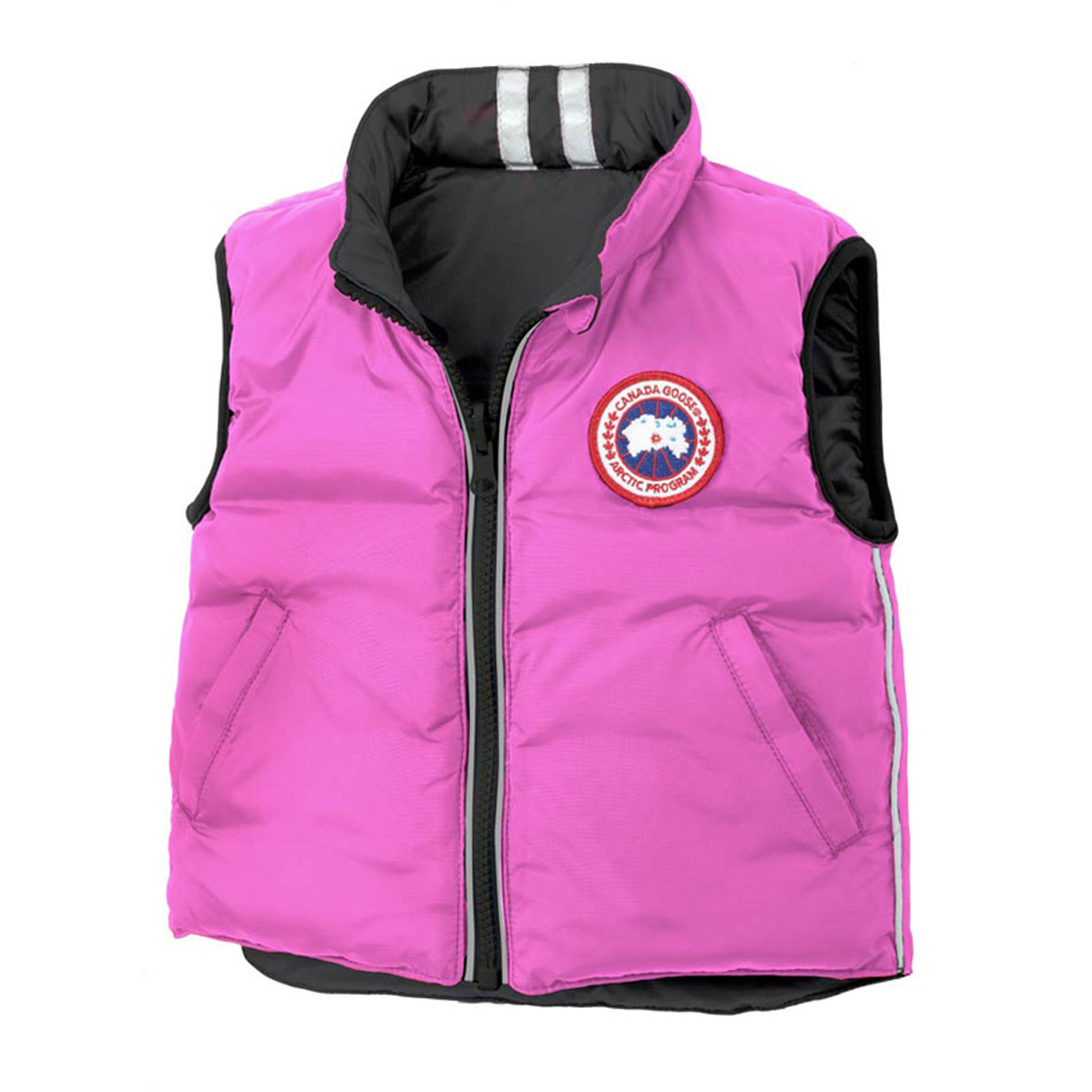 Canada Goose Infants [0M-12M] Cub Reversible Vest SUMMIT PINK BLACK