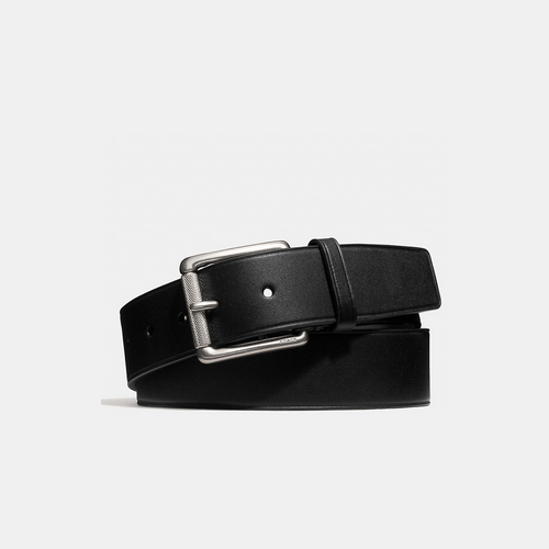 COACH BLEECKER large roller storypatch belt BLACK