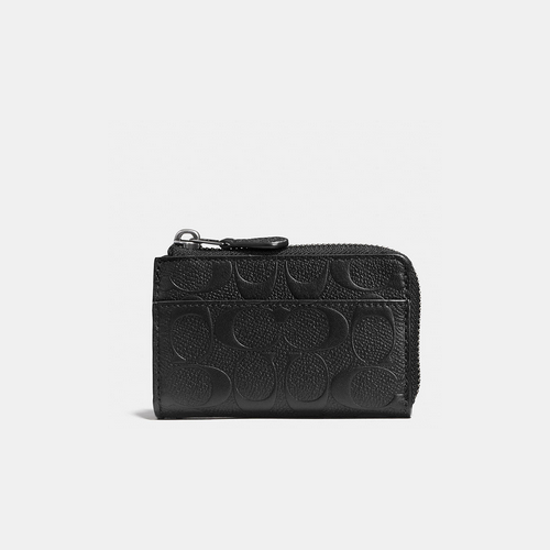 COACH ZIP key case BLACK