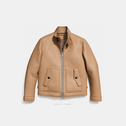 COACH COLLECTION leather barracuda jacket SADDLE