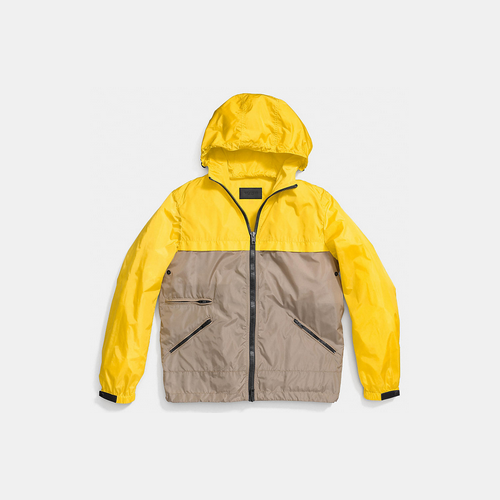COACH COLORBLOCK storm jacket YELLOW/KHAKI