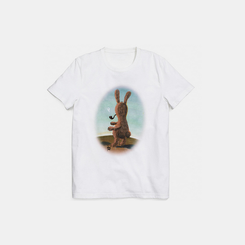COACH x baseman smoking bunny t-shirt WHITE