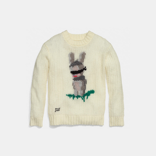 COACH x baseman emmanuel hare ray sweater CREAM