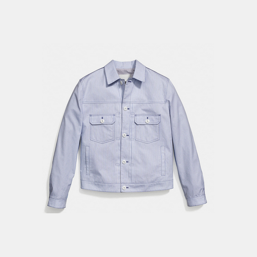 COACH OXFORD jean jacket BLUE