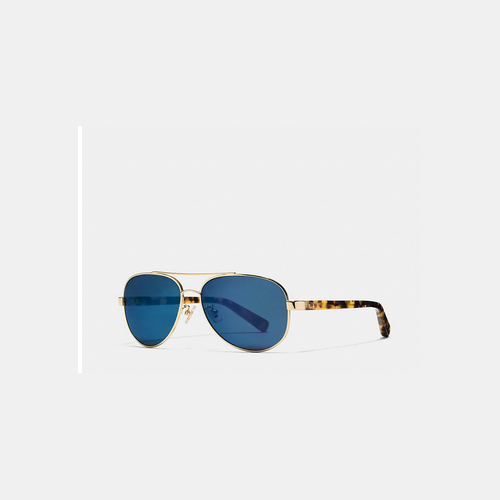 COACH THOMPSON sunglasses GOLD TOKTORTOISE BLUE