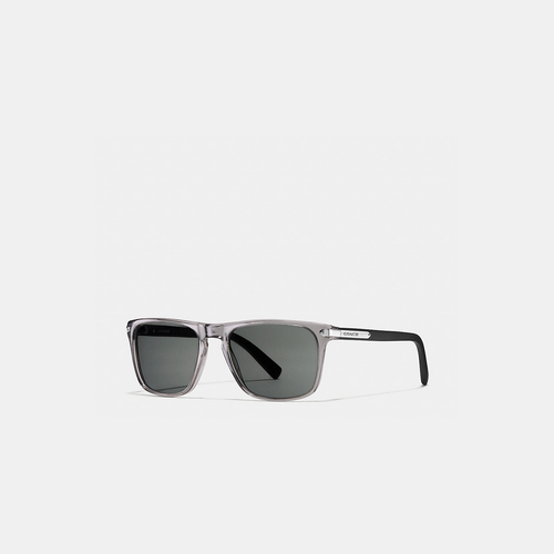 COACH TAG temple square sunglasses GREY/MATTE BLACK