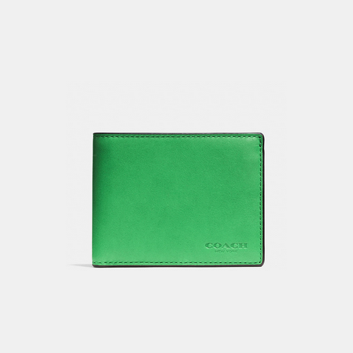 COACH SLIM billfold id wallet GREEN