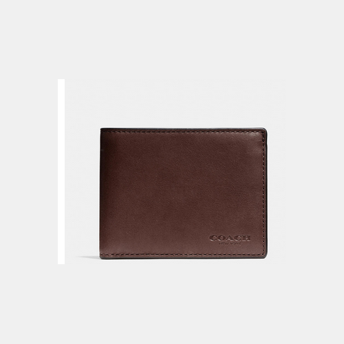 COACH SLIM billfold id wallet MAHOGANY