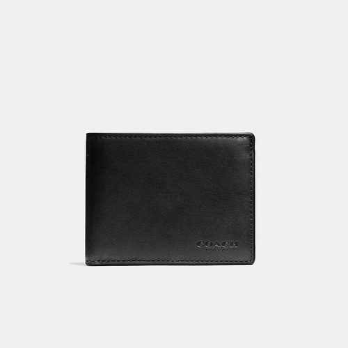 COACH SLIM billfold id wallet BLACK
