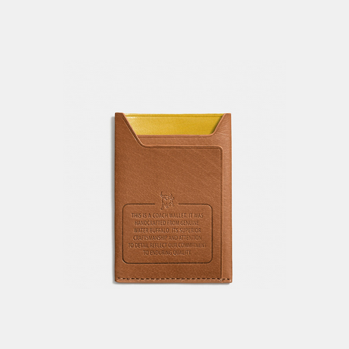 COACH MODERN card case SADDLE/YELLOW