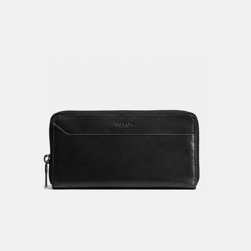 COACH MODERN accordion wallet BLACK/GREEN