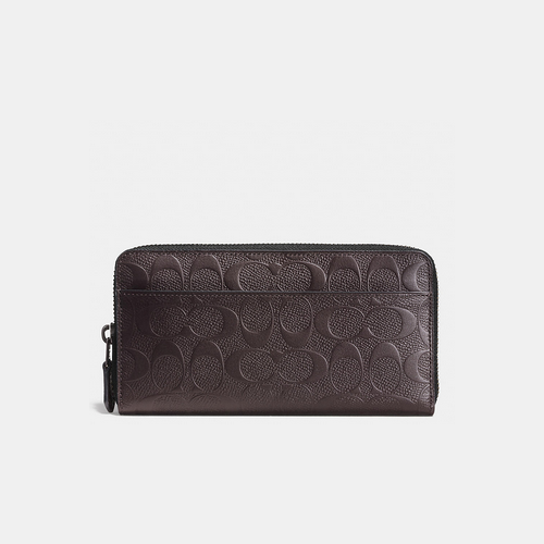 COACH ACCORDION wallet MAHOGANY