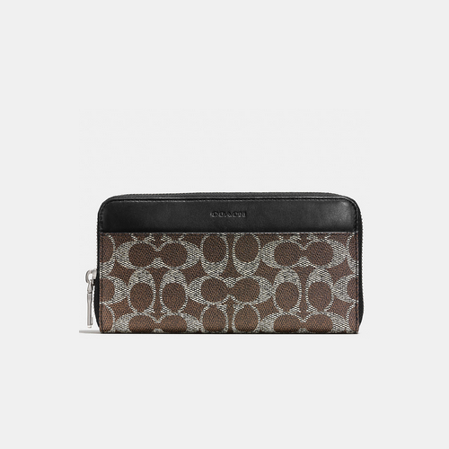 COACH ACCORDION wallet SADDLE
