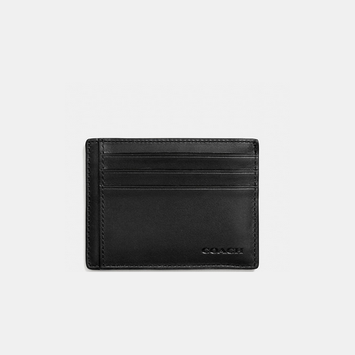 COACH ID card case BLACK
