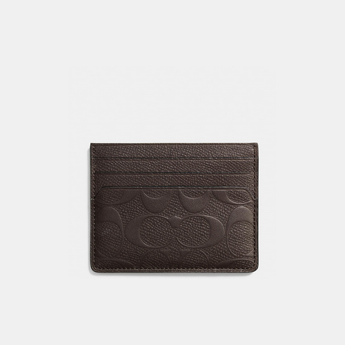 COACH CARD case MAHOGANY