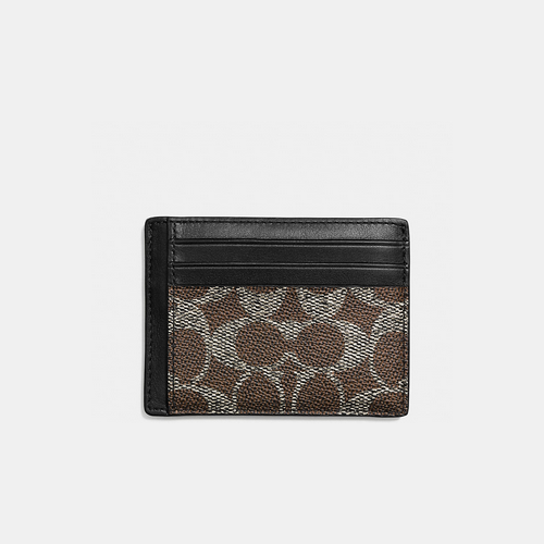 COACH ID card case SADDLE
